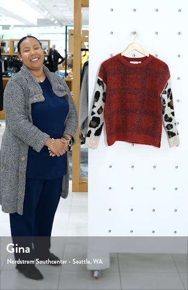 Leopard Sleeve Sweater, sales video thumbnail