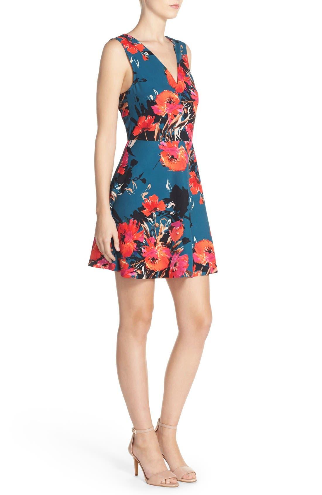 ,                             Bianca Back Cutout Fit & Flare Dress,                             Alternate thumbnail 46, color,                             421