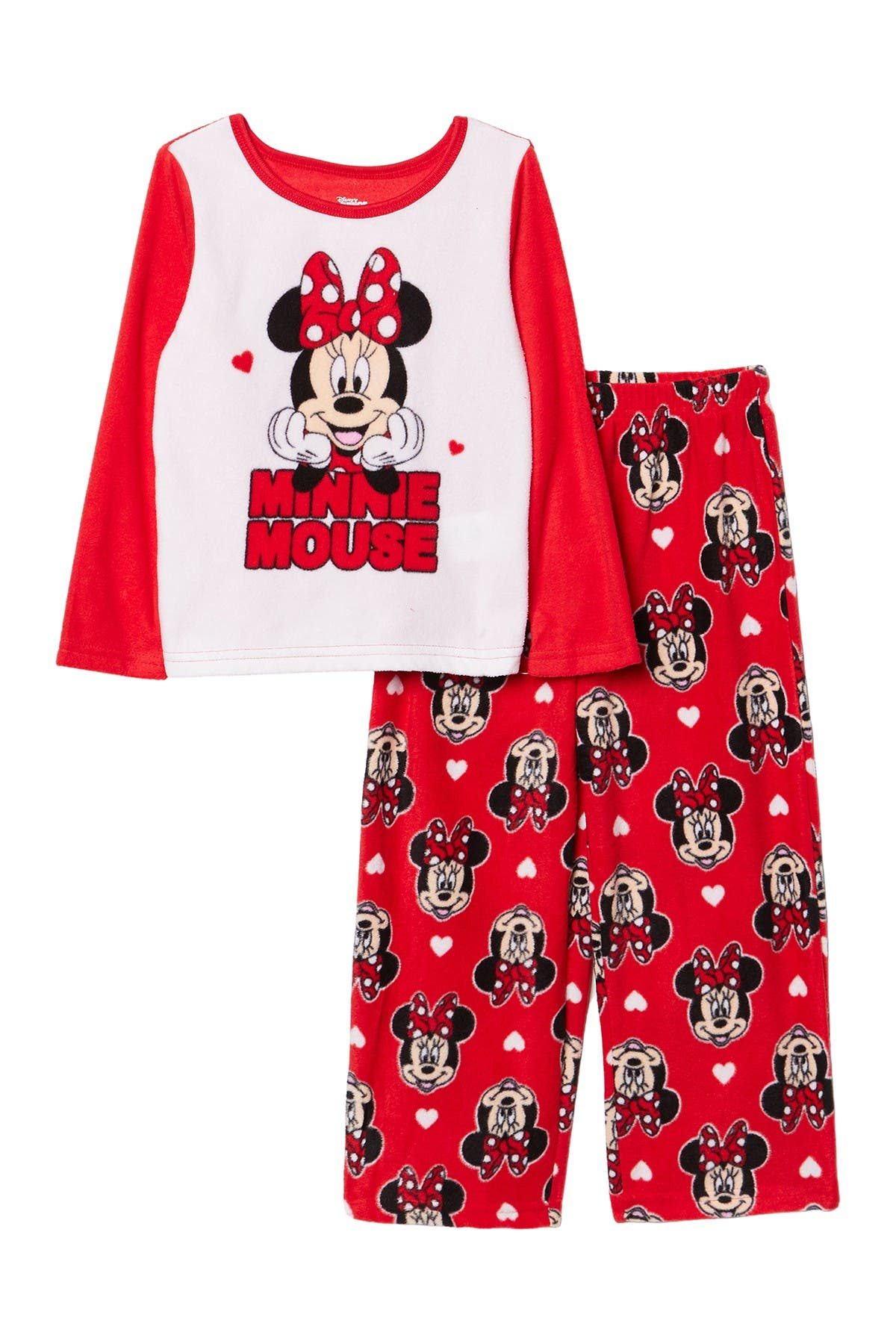 Image of AME Minnie Mouse Long Sleeve Pajama Set