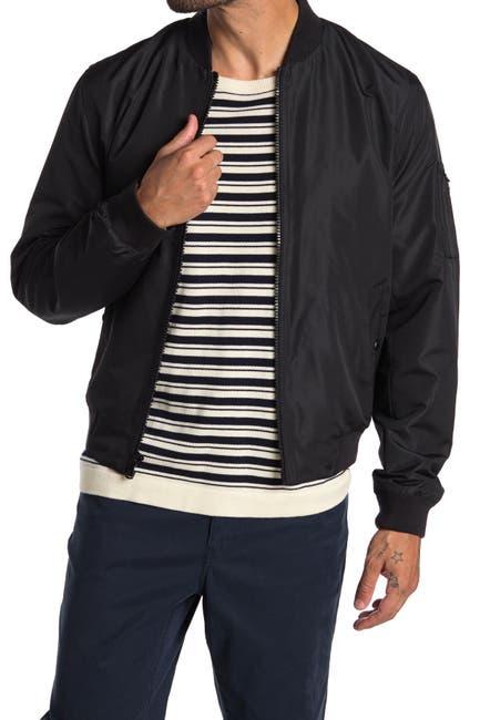 Image of Michael Kors Taslan Zip Front Bomber Jacket