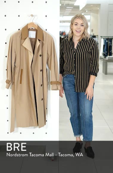 Grace Oversize Twill Trench Coat, sales video thumbnail