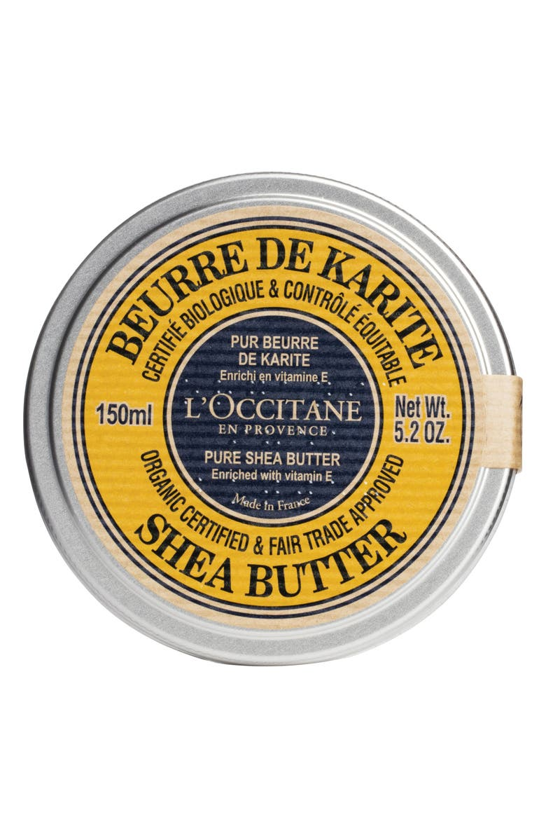 L'OCCITANE Certified Organic Pure Shea Butter, Main, color, NO COLOR