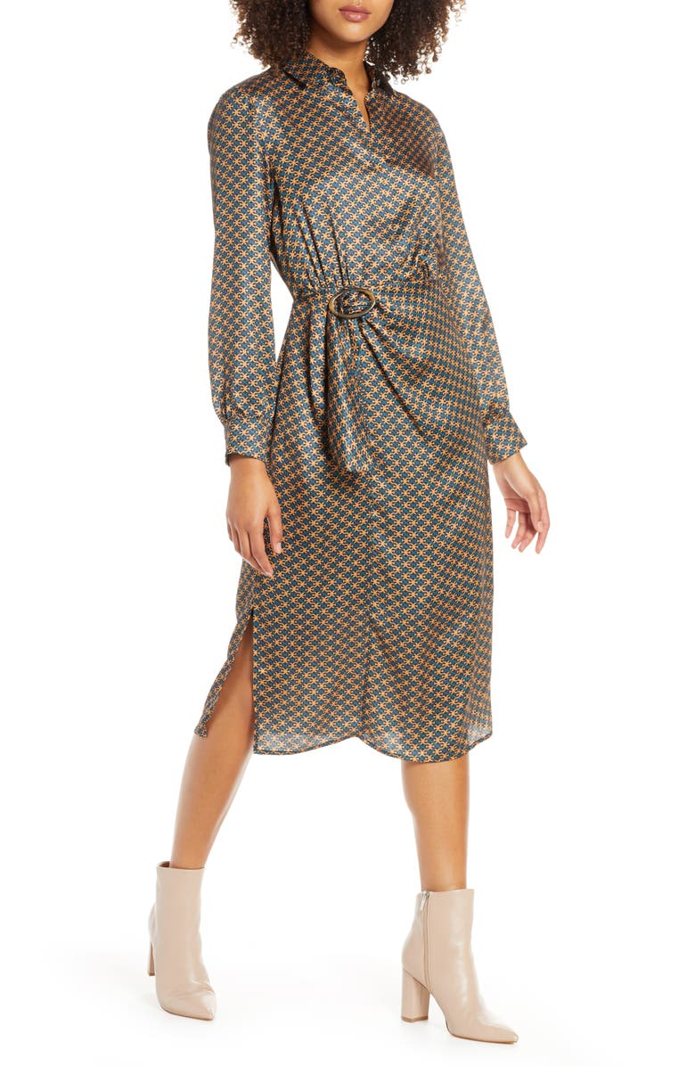 Double E Heritage Long Sleeve Shirtdress by Sam Edelman