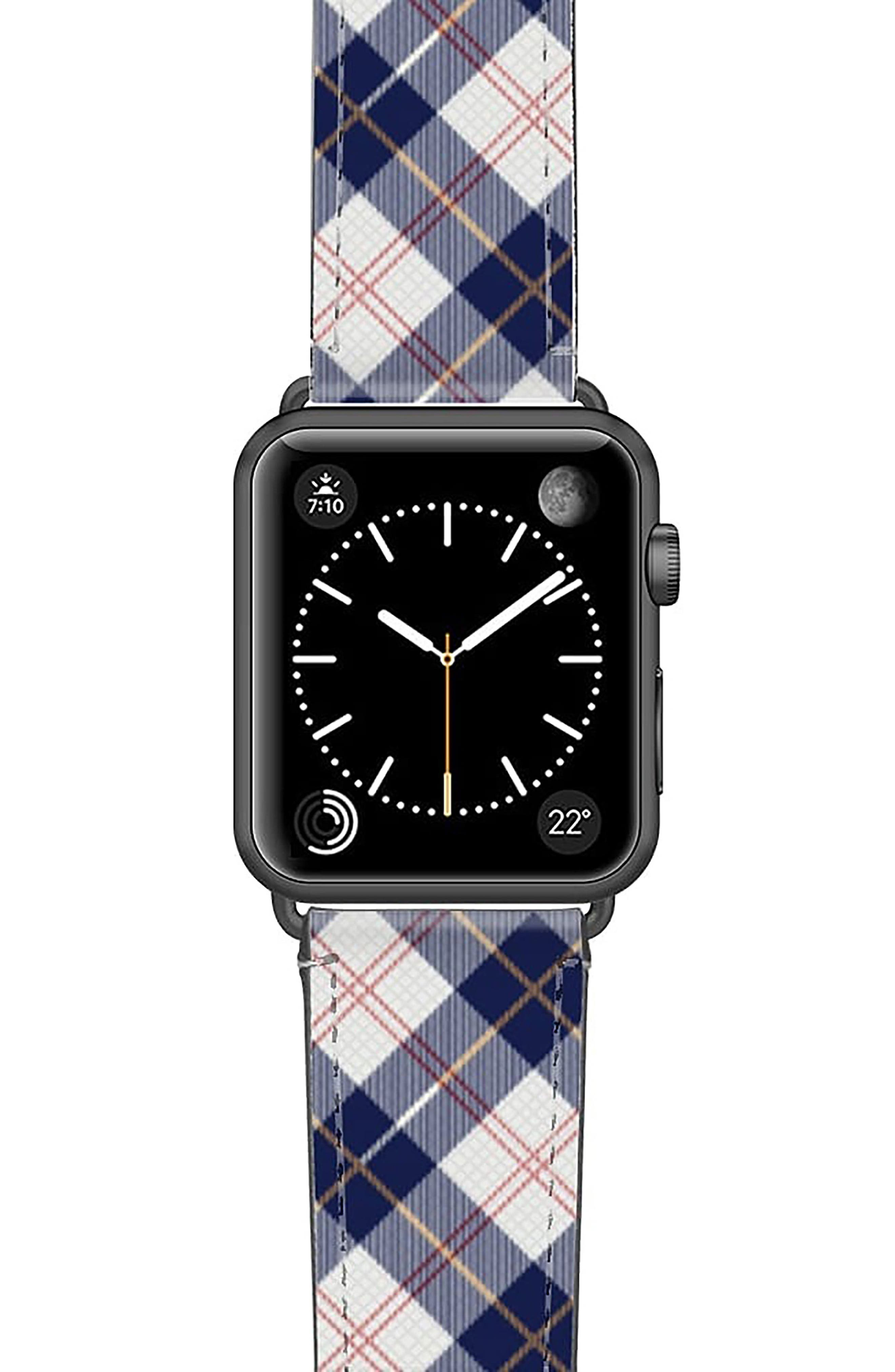 Call Me Navy Saffiano Faux Leather Apple Watch Strap