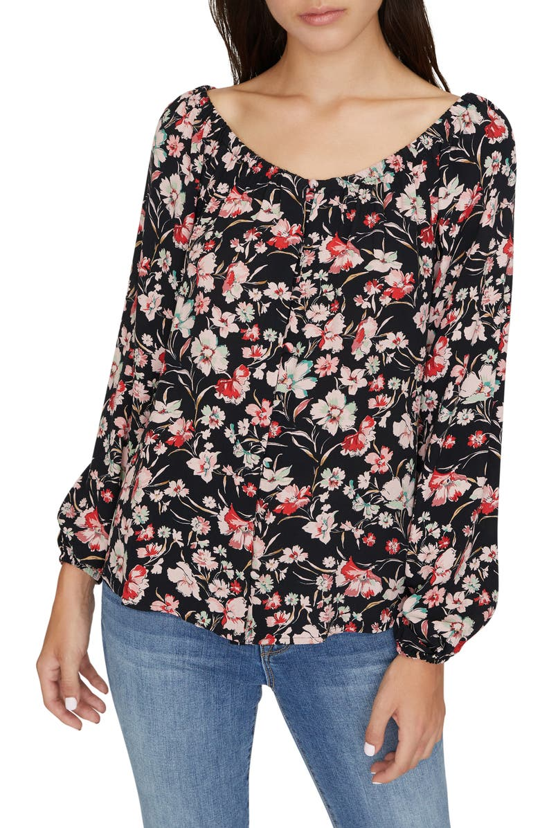 SANCTUARY Genevieve Floral Top, Main, color, FILTERED SPRING
