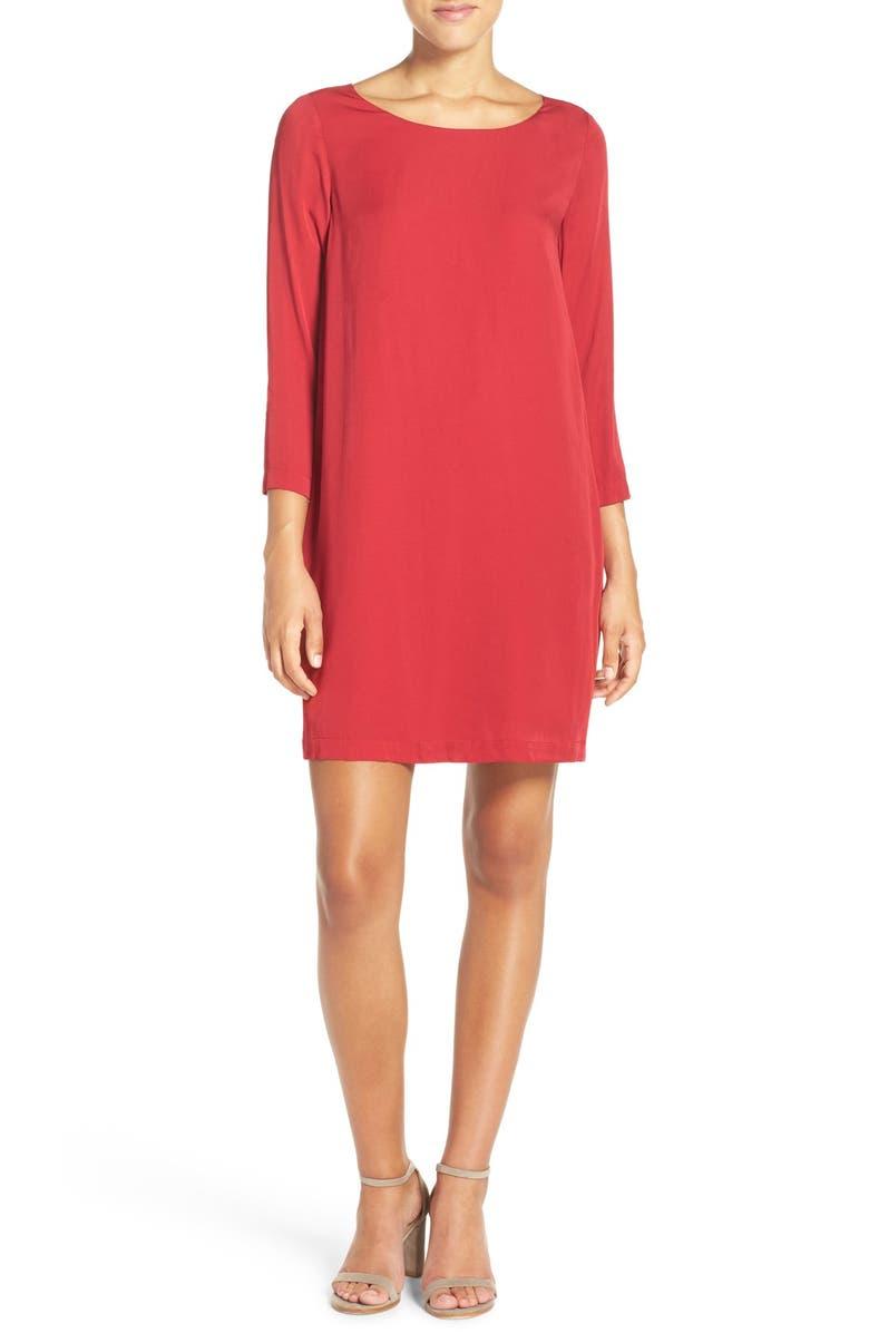 BB DAKOTA 'Zepplin' Lattice Back Shift Dress, Main, color, 601