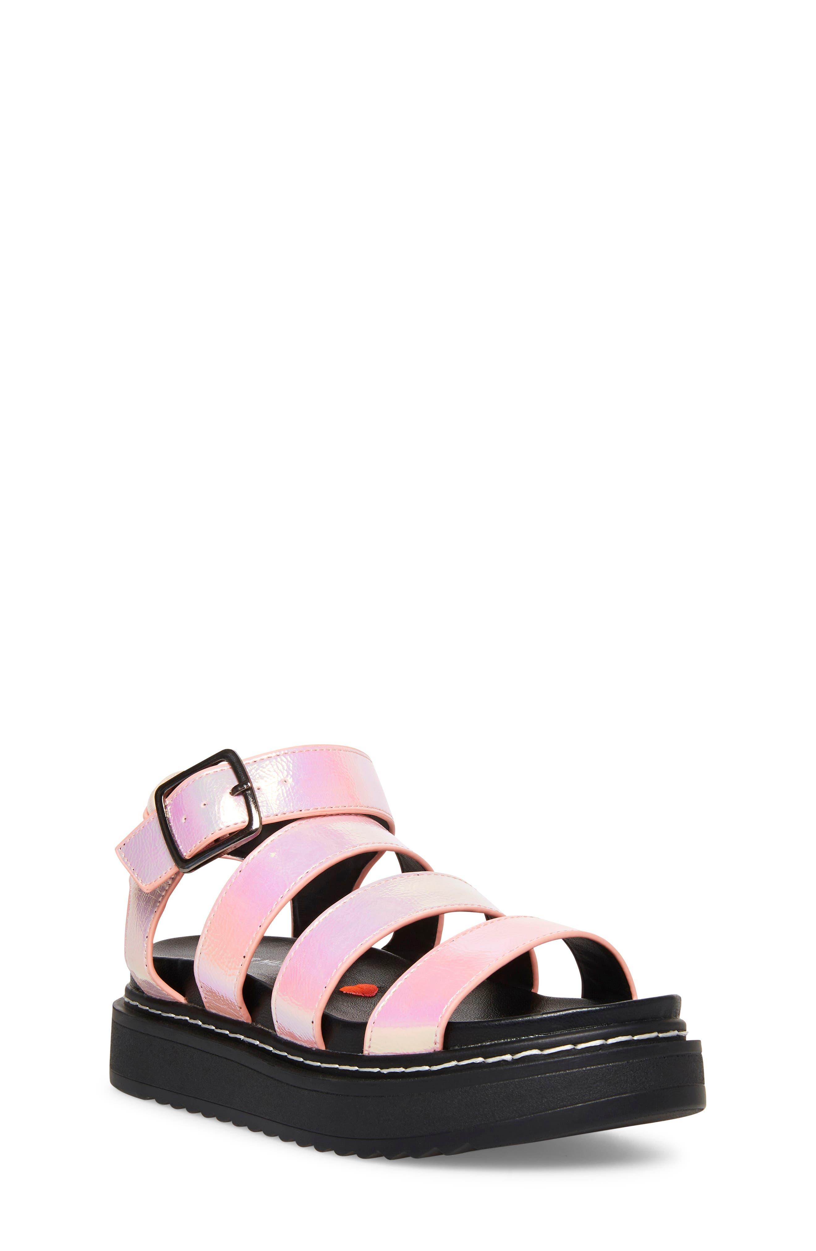 Steve Madden Kids' Jcandy Platform Sandal In Iridescent