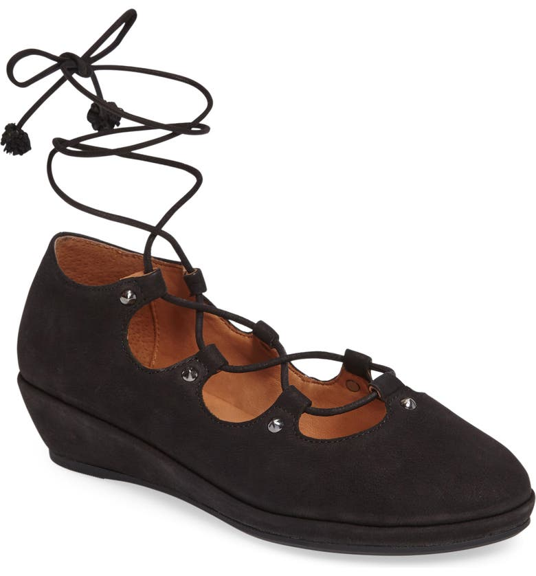 GENTLE SOULS BY KENNETH COLE Gentle Souls Nita Lace-Up Flat, Main, color, 001