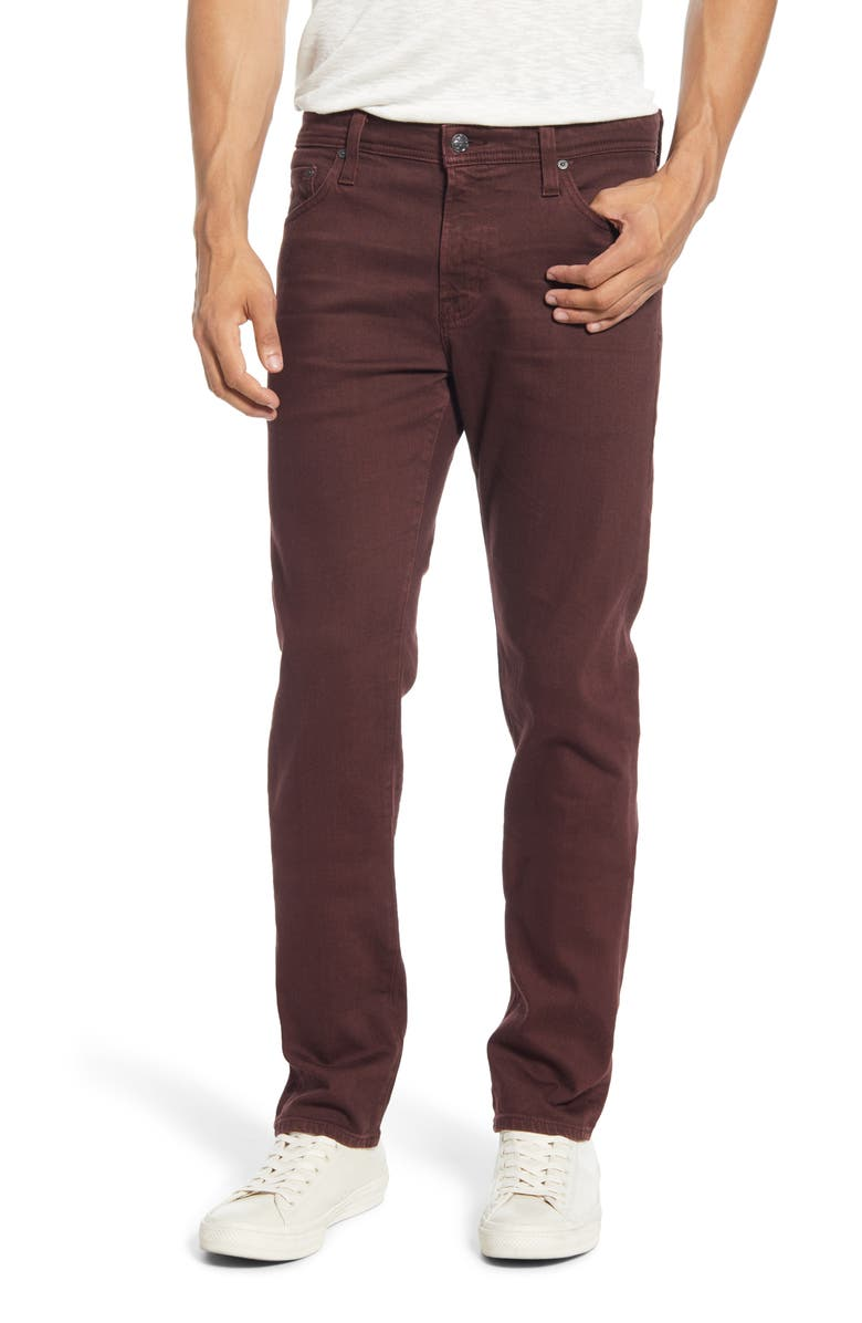 AG Tellis Slim Fit Jeans, Main, color, 7 YEARS SCARLETT CURRANT
