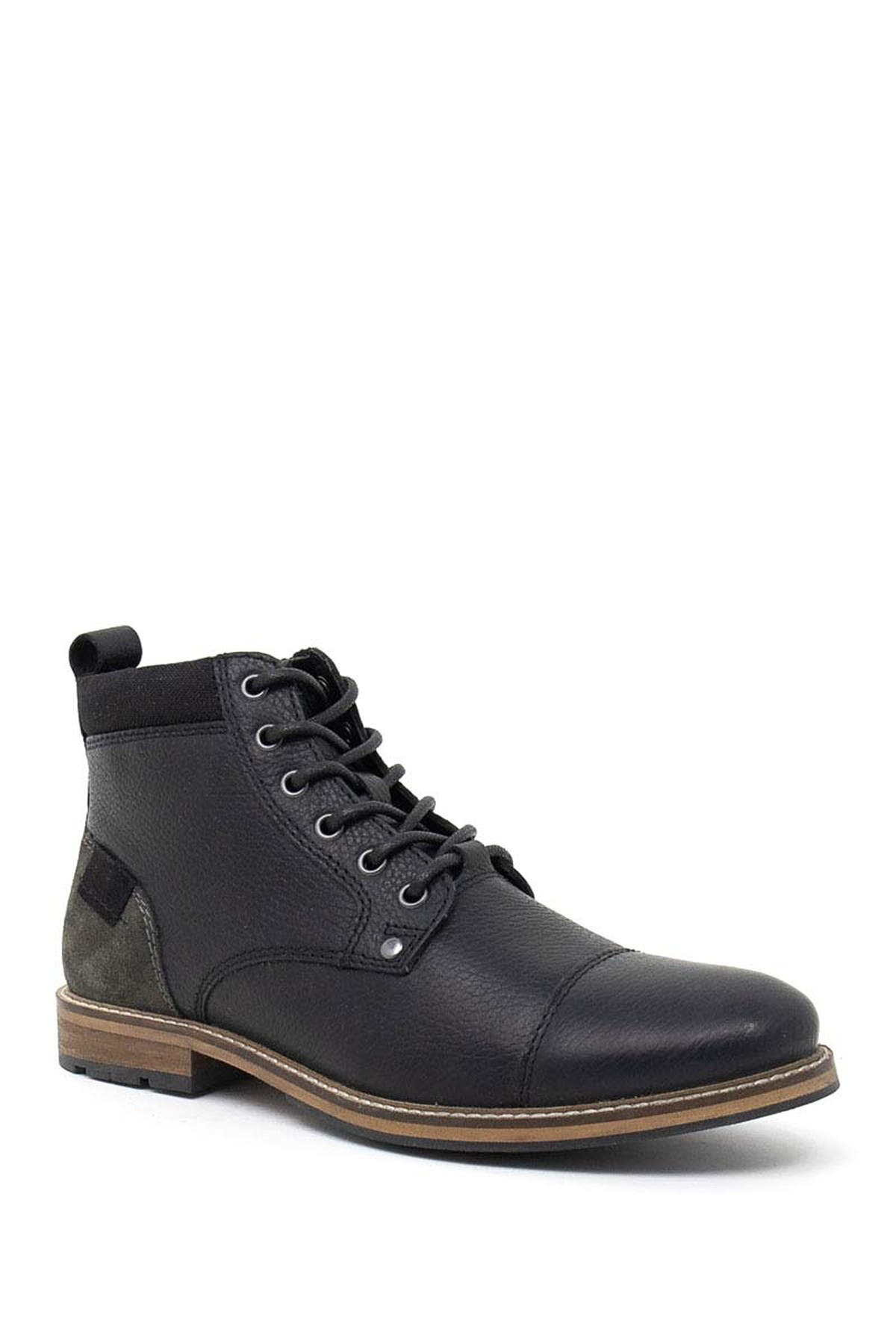 Image of Crevo Neal Leather Lace-Up Boot