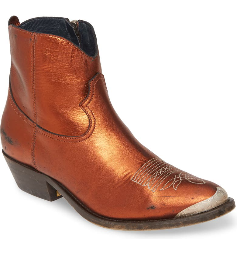 GOLDEN GOOSE Young Western Boot, Main, color, BRONZE
