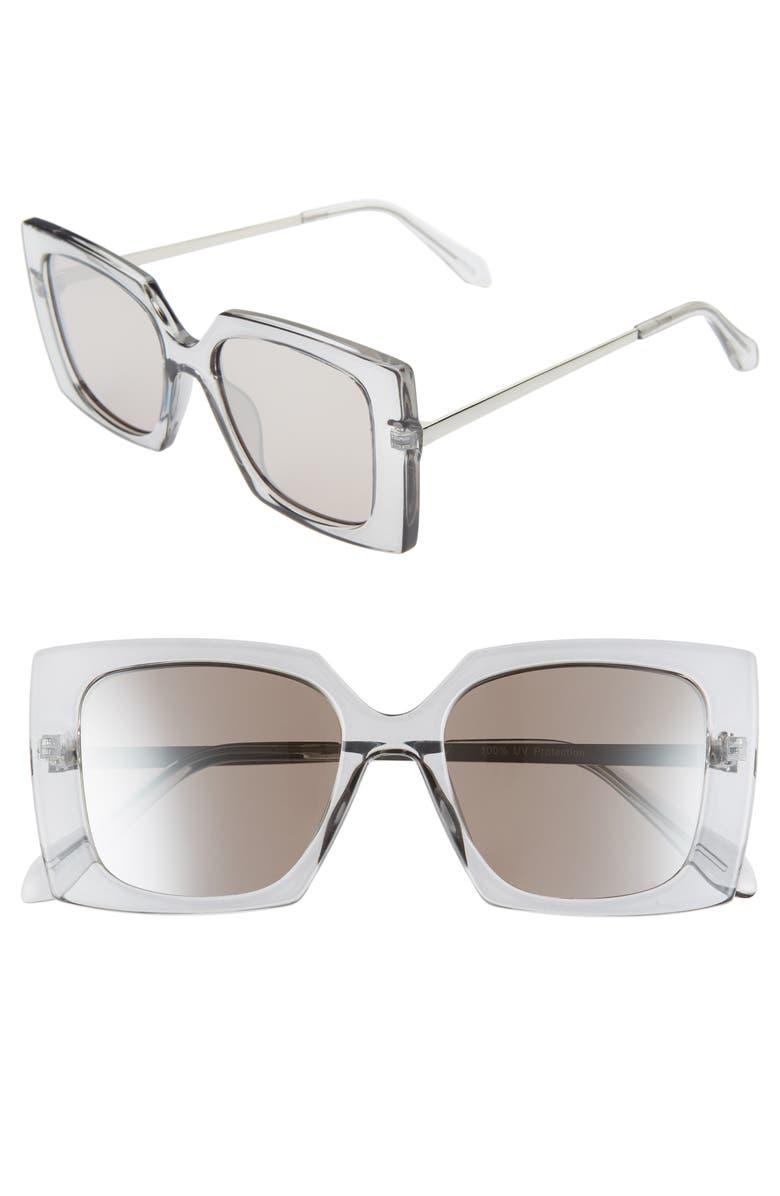 BP. 53mm Square Sunglasses, Main, color, GREY
