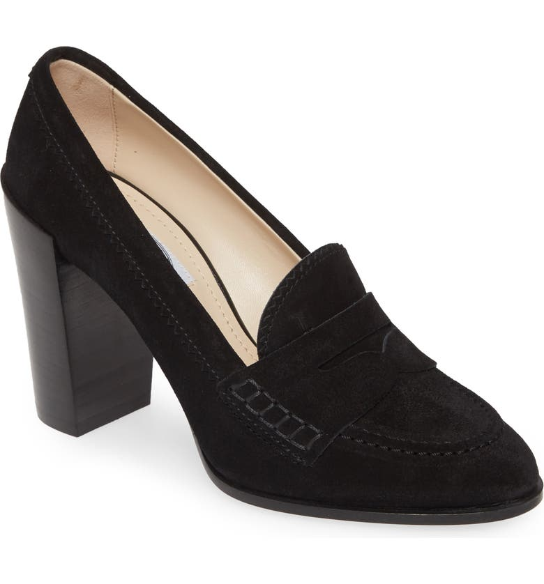 TOD'S Loafer Pump, Main, color, BLACK