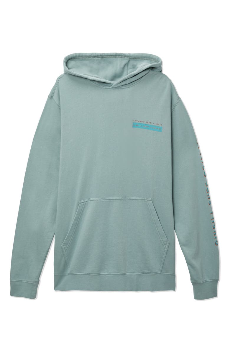 O'NEILL Split Logo Cotton Hoodie, Main, color, SMOKE BLUE