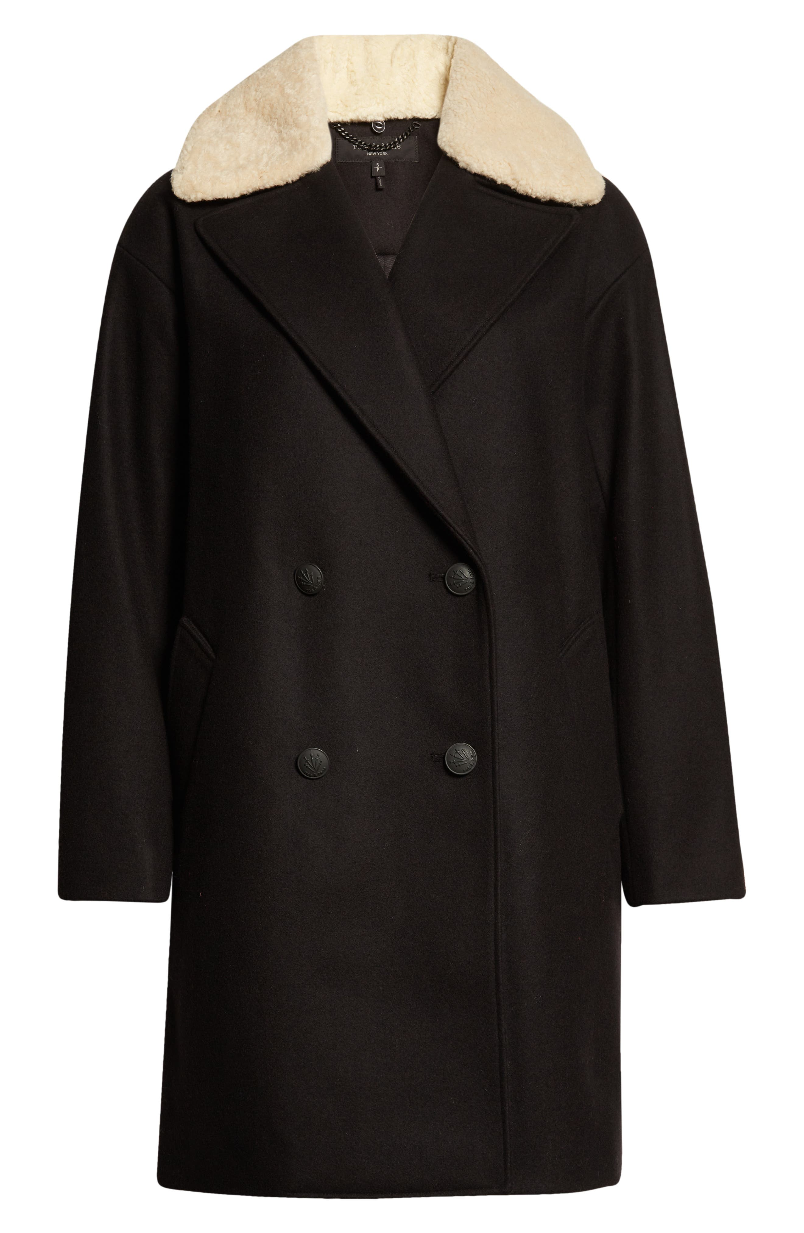 1920s Coats, Furs, Jackets and Capes History rag  bone Mina Cocoon Wool Blend Coat Size X-Small in Black at Nordstrom $1,095.00 AT vintagedancer.com