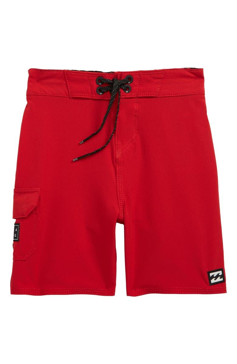 BILLABONG All Day Pro Board Shorts, Main, color, LIFEGUARD RED