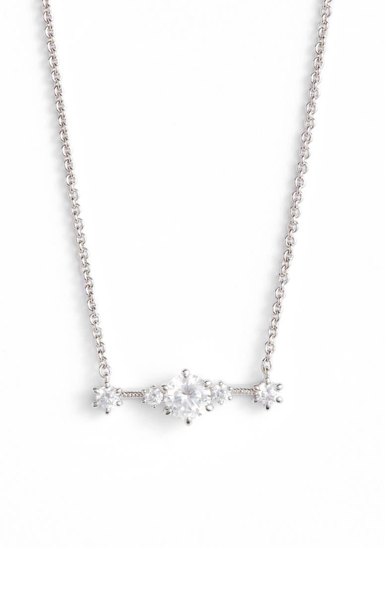 NADRI Edwardian Crystal Bar Necklace, Main, color, 040