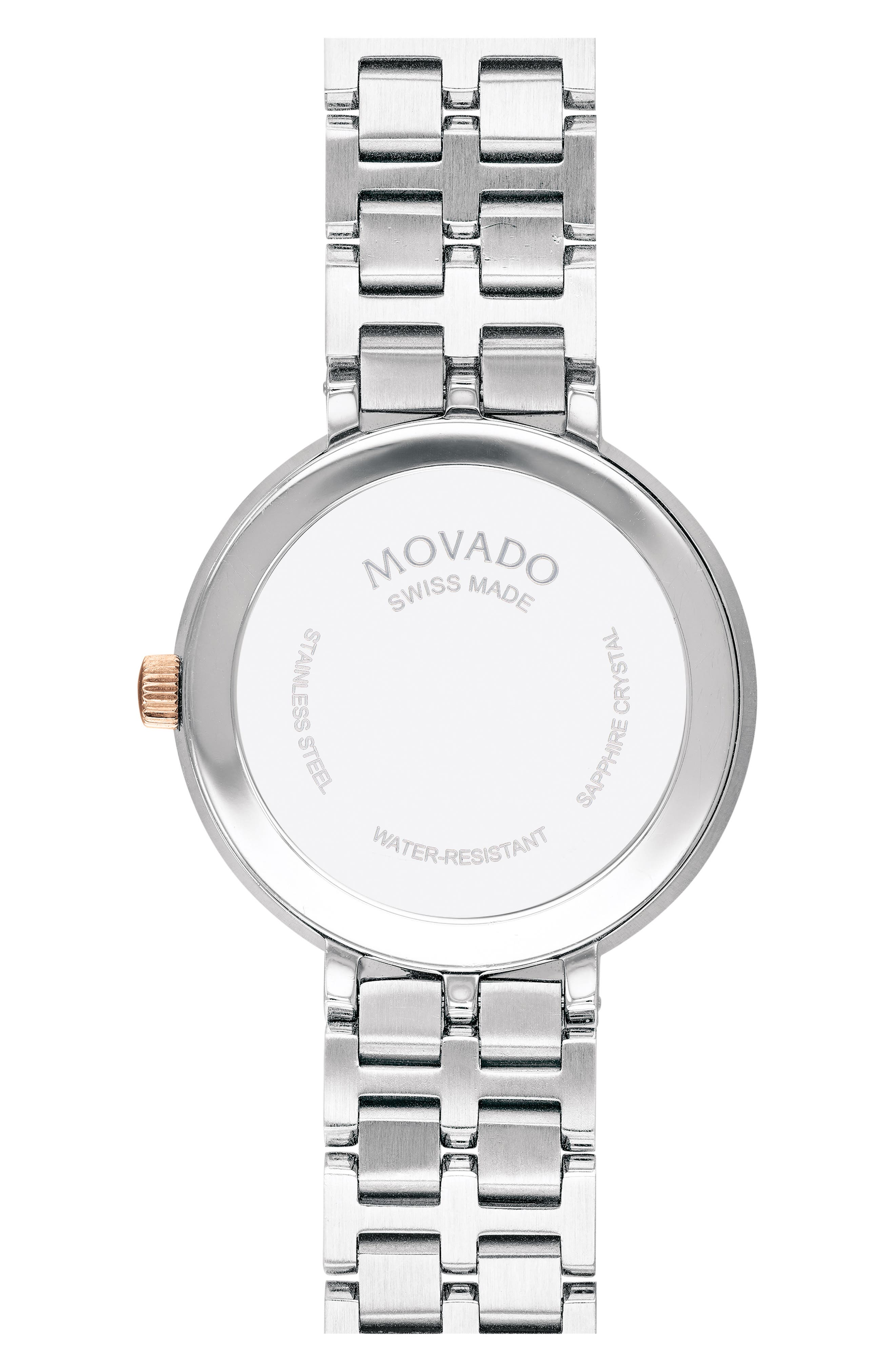 ,                             Kora Bracelet Watch, 28mm,                             Alternate thumbnail 2, color,                             CARNATION GLD/ WHT MOP/ SILVER