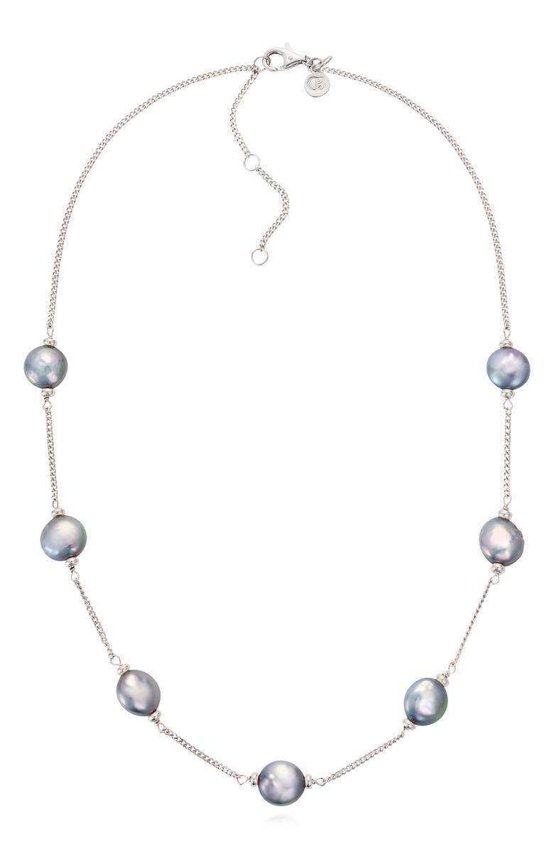 CLAUDIA BRADBY Luxe Coin Pearl Necklace, Main, color, 040