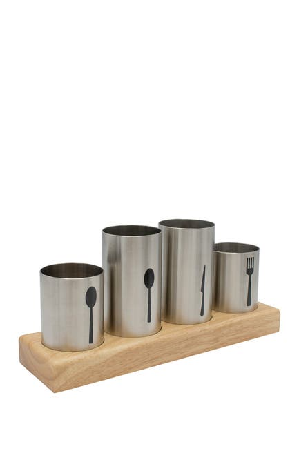 Image of Sorbus Stainless Steel  Flatware Organizer Caddy