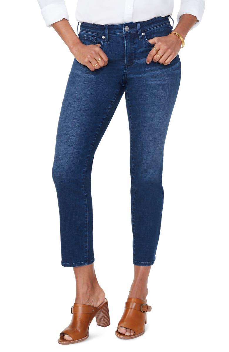 NYDJ Sheri Ankle Slim Jeans, Main, color, REGO