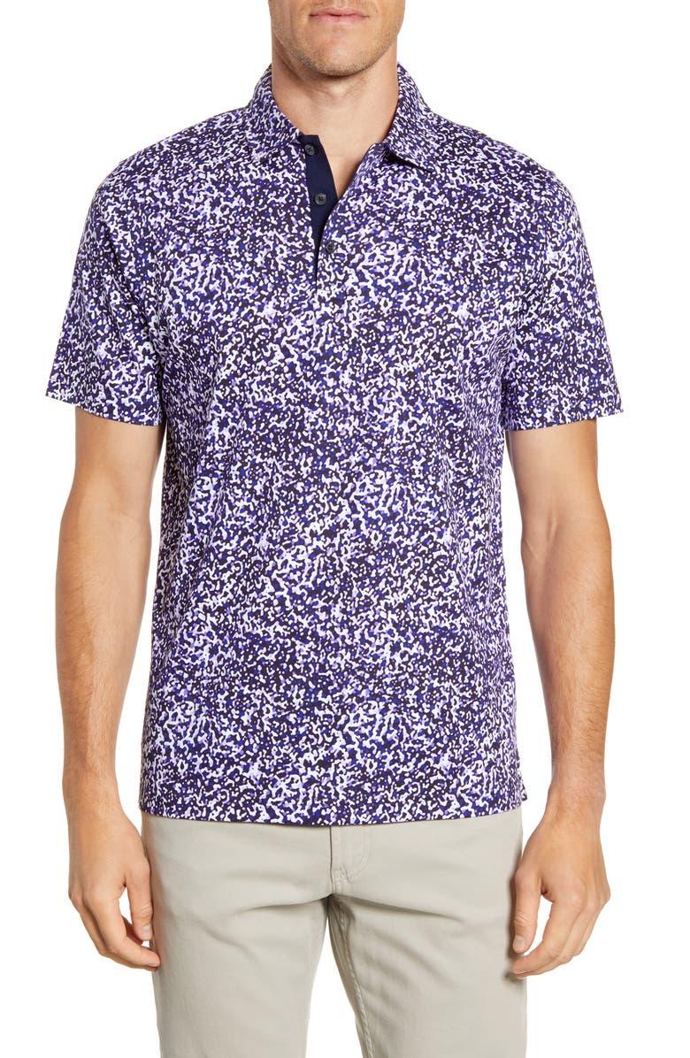 BUGATCHI Regular Fit Mercerized Cotton Polo, Main, color, GRAPE