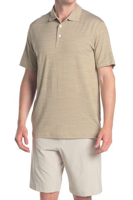 Image of PUMA Caddie Brown Stripe Golf Polo