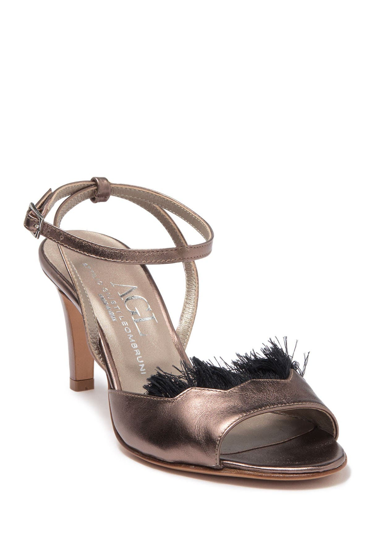 Image of AGL Faux Feathered Open Toe Sandal