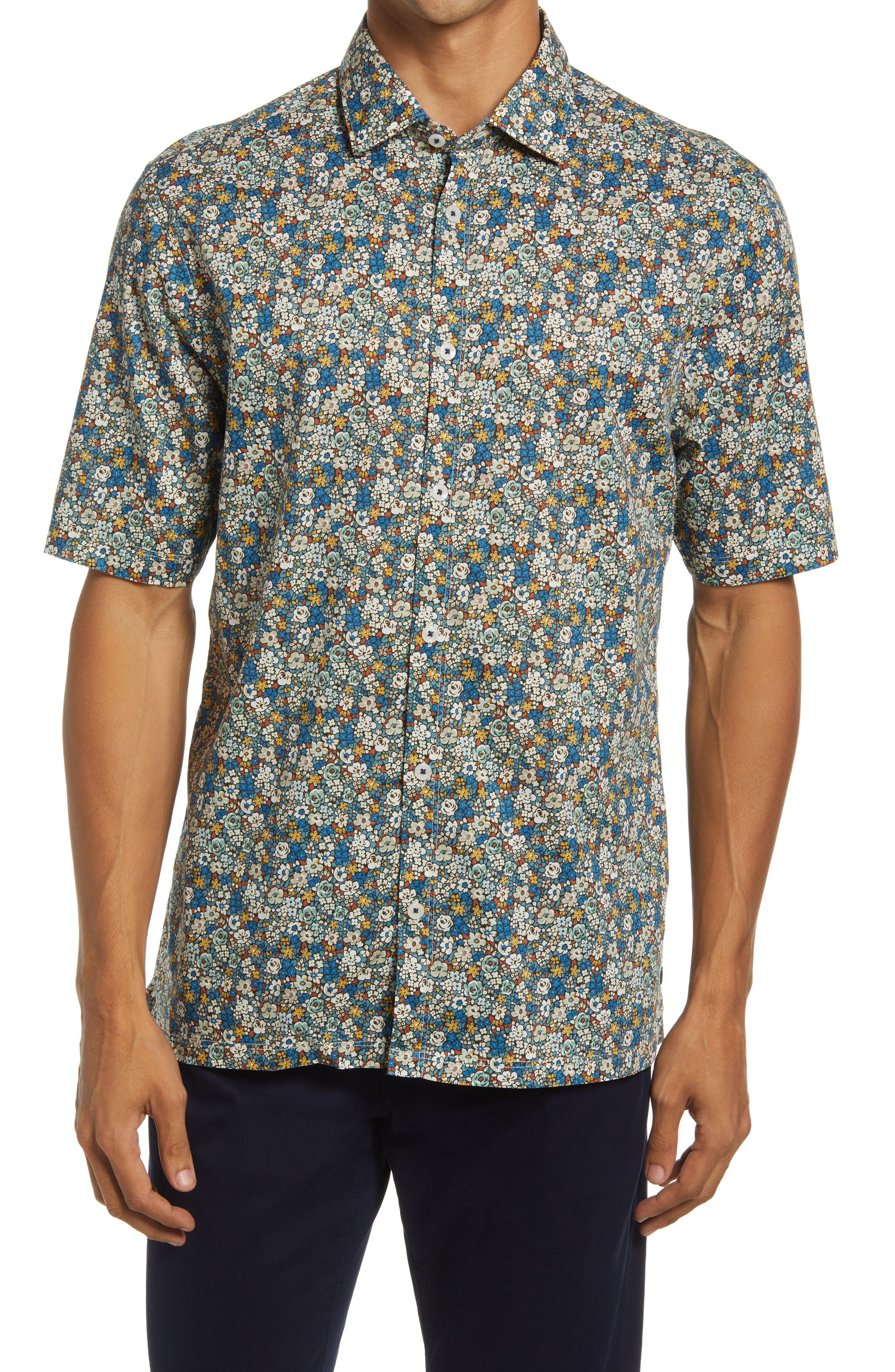 On Point Slim Fit Short Sleeve Button-Up Shirt