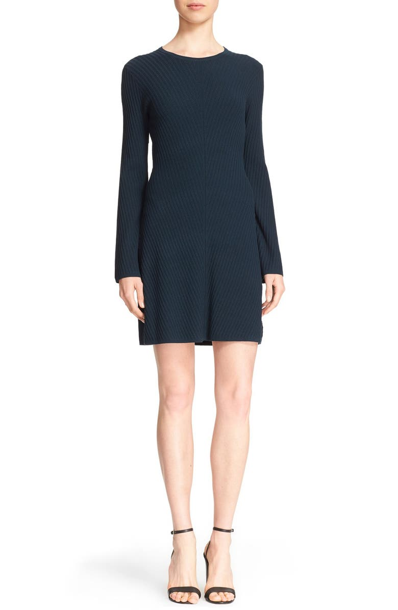 THEORY 'Ardesia Prosecco' Ribbed Sweater Dress, Main, color, 400