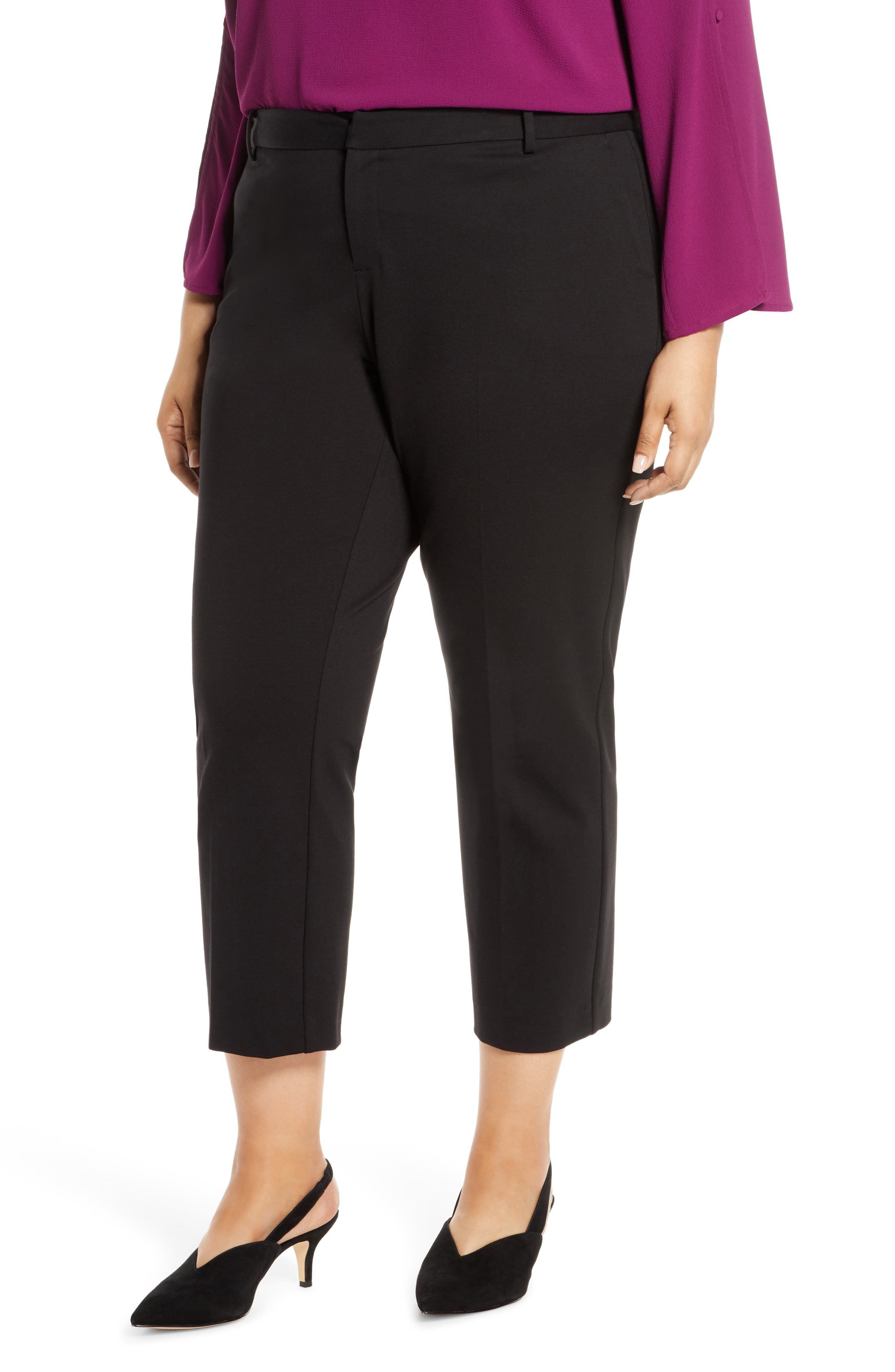 Vince Camuto Tech Ponte Skinny Ankle Pants (Plus Size)