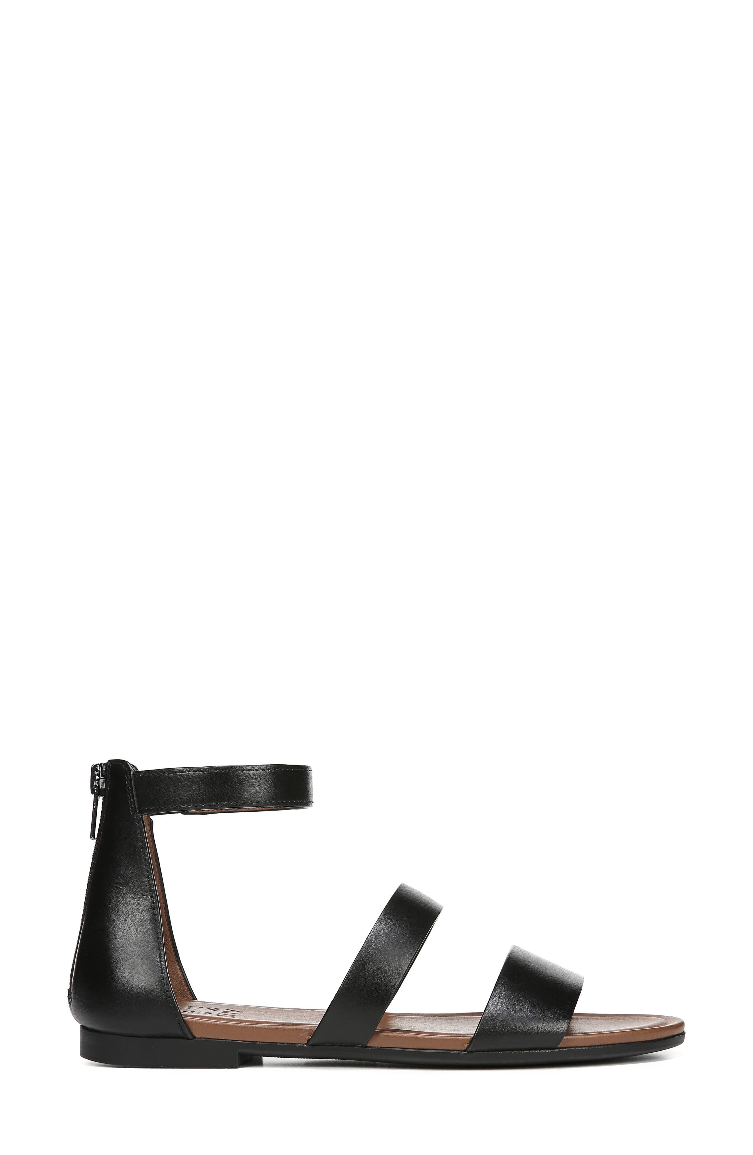 ,                             Tish Sandal,                             Alternate thumbnail 3, color,                             BLACK LEATHER