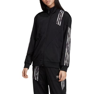 Adidas Originals Danielle Cathari Firebird Recycled Tricot Track Jacket, Black