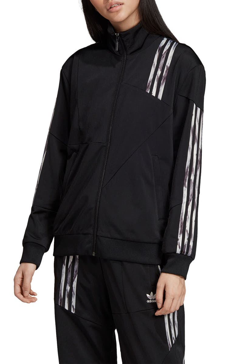 ADIDAS ORIGINALS Daniëlle Cathari Firebird Recycled Tricot Track Jacket, Main, color, BLACK/ CLOUD WHITE
