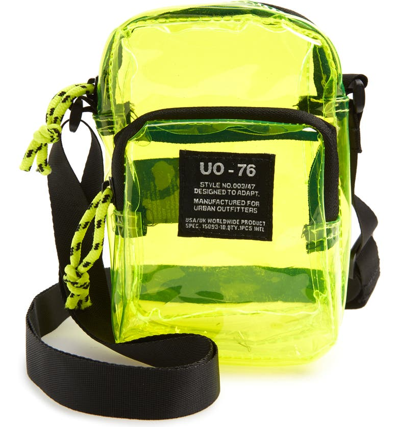 BDG URBAN OUTFITTERS Clear Crossbody Bag, Main, color, LIME