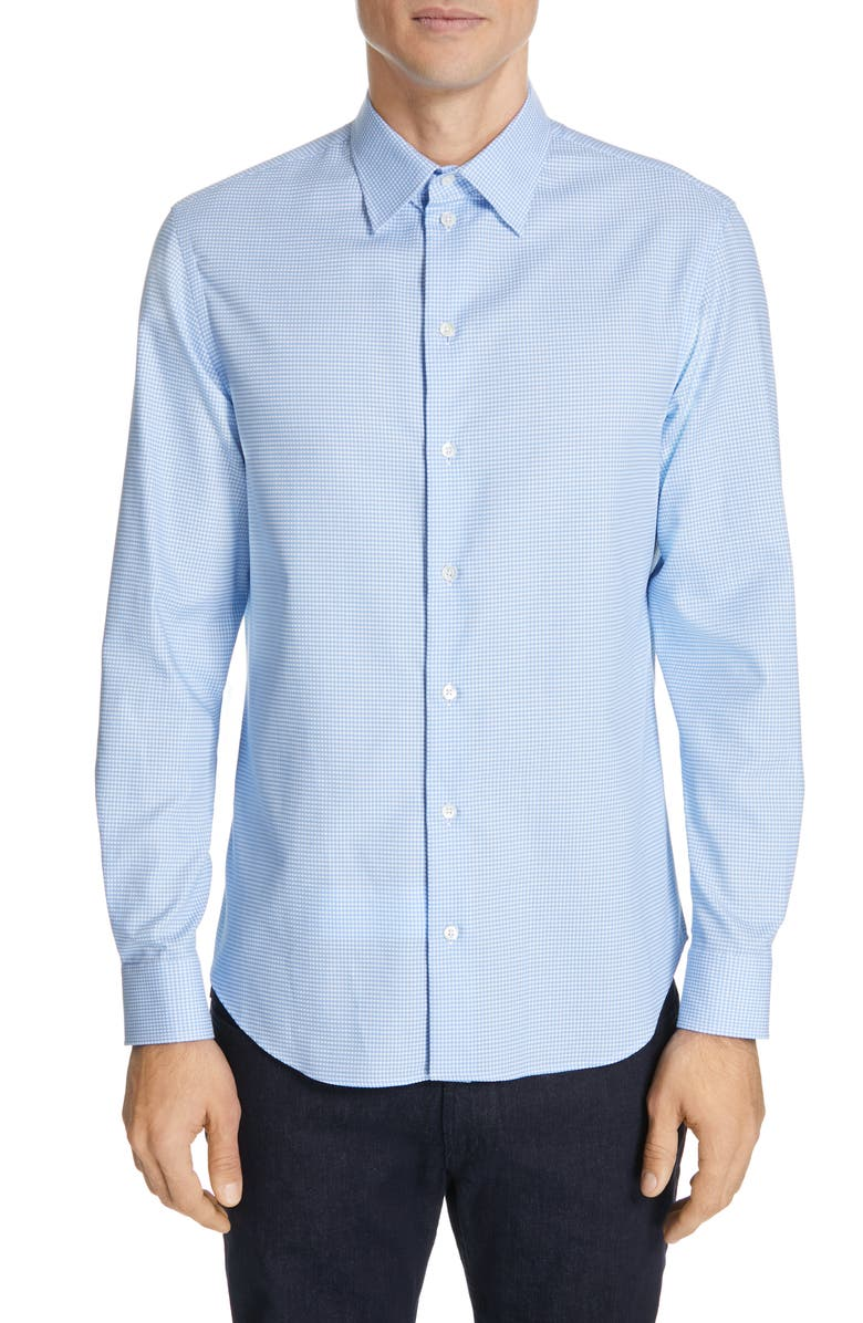 EMPORIO ARMANI Slim Fit Check Sport Shirt, Main, color, 474