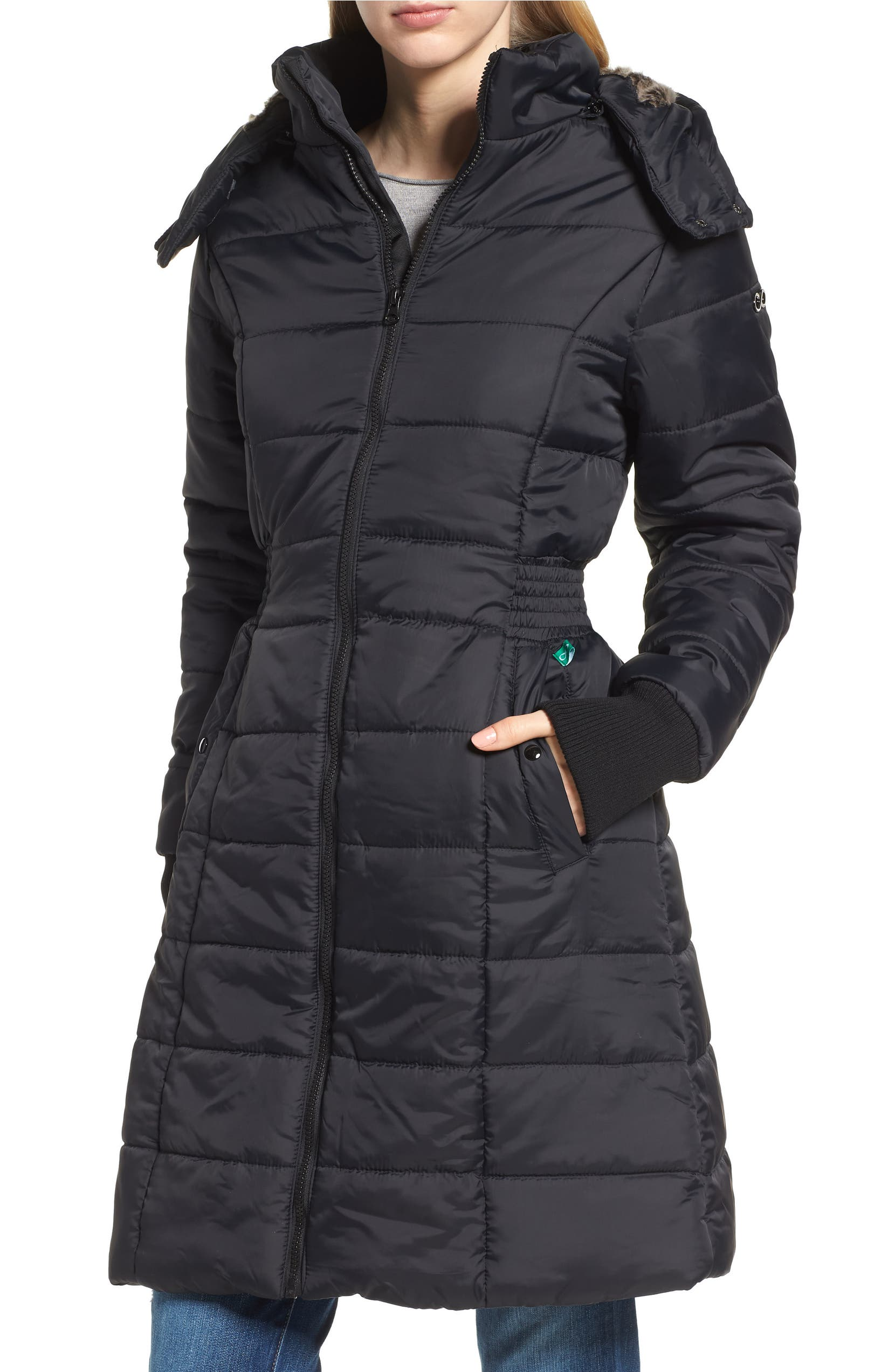 ce9c32844b4e1 Modern Eternity Madison Quilted 3-in-1 Maternity Puffer Coat with Faux Fur  Trim | Nordstrom
