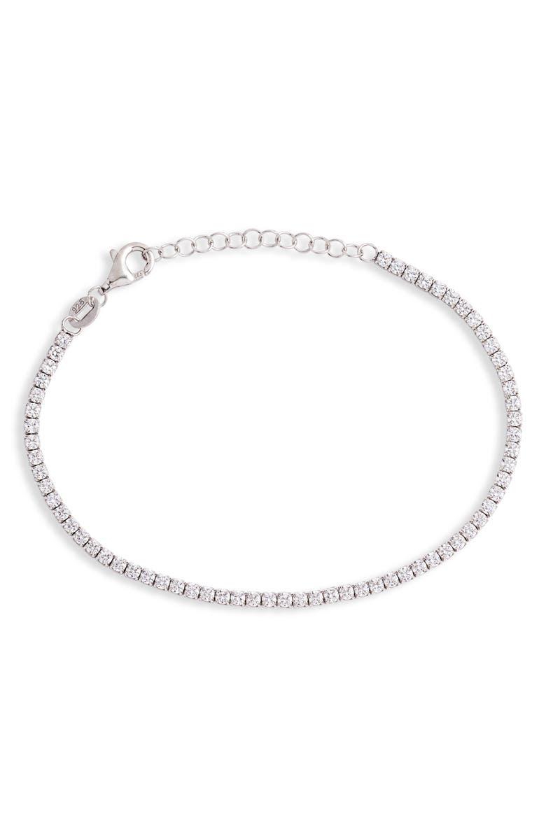 ADINA'S JEWELS Adina's Jewels Thin Tennis Bracelet, Main, color, 040
