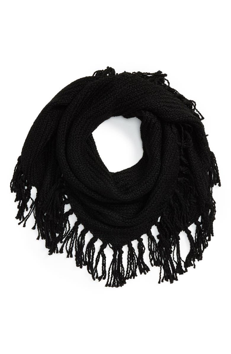 HINGE Knit Scarf, Main, color, 001