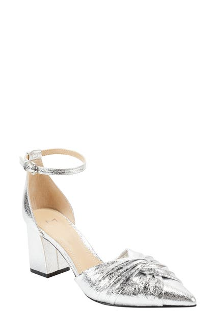 Image of Marc Fisher LTD Ziya Knotted Ankle Strap Block Heel Pump