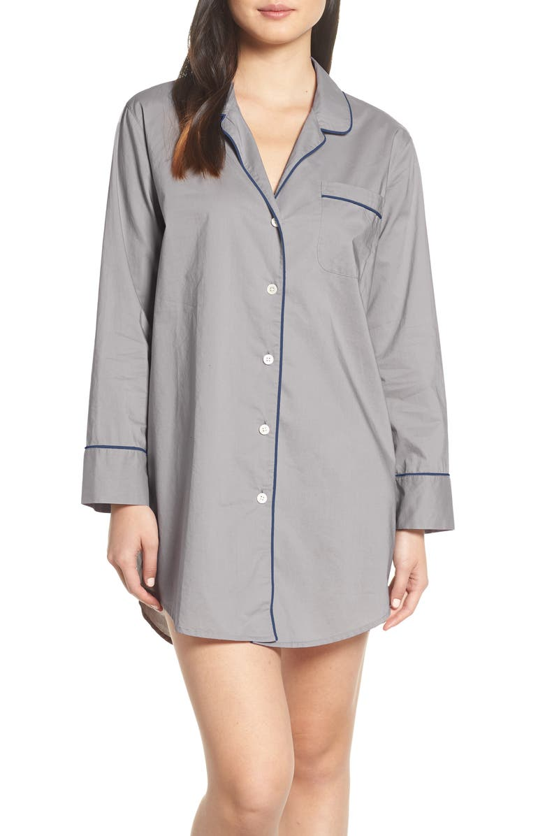 J.CREW End on End Sleep Shirt, Main, color, 020