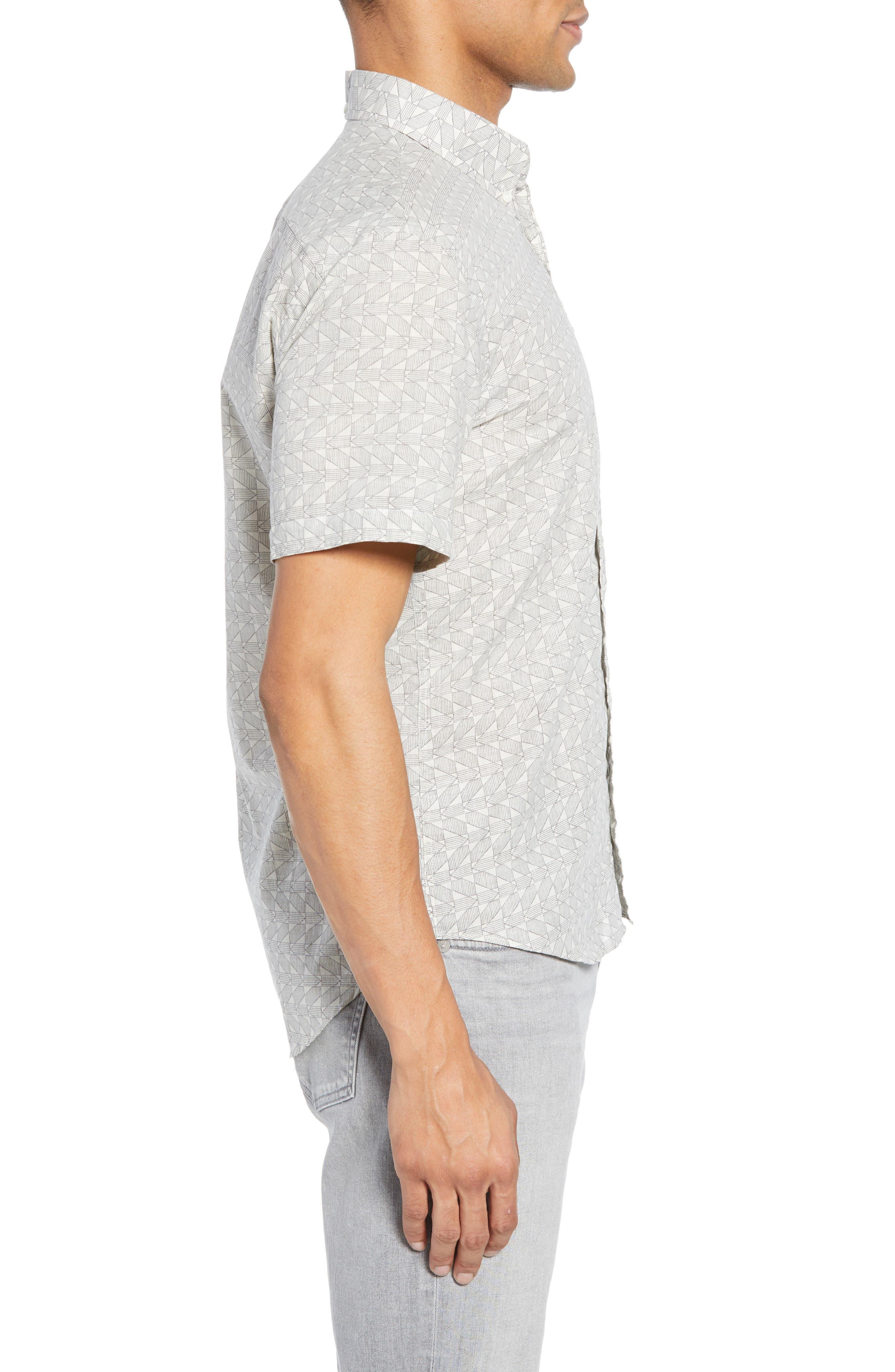 ,                             Tuscumbia Palisades Slim Fit Sport Shirt,                             Alternate thumbnail 4, color,                             NAVY/ WHITE