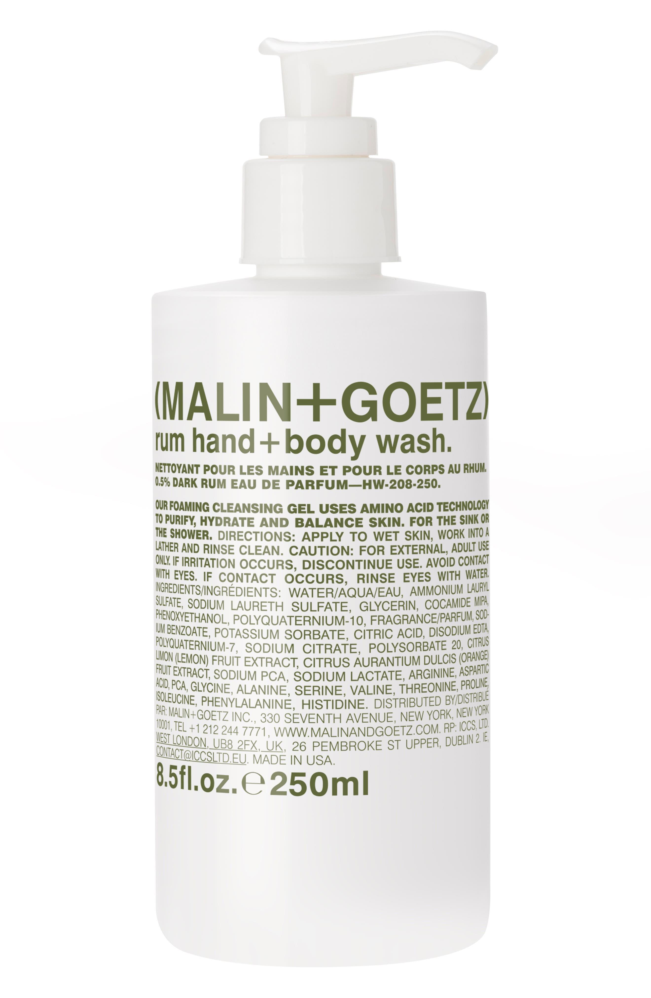 Malin + Goetz Rum Hand & Body Wash With Pump