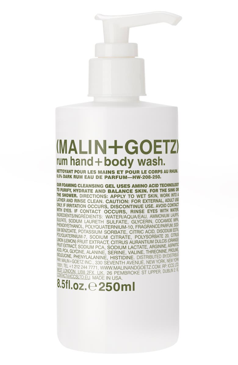 MALIN+GOETZ MALIN + GOETZ Rum Hand & Body Wash with Pump, Main, color, 960