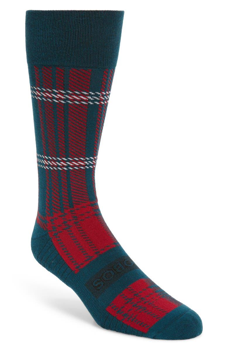 BONOBOS Diamond Print Cotton Blend Socks, Main, color, IVY
