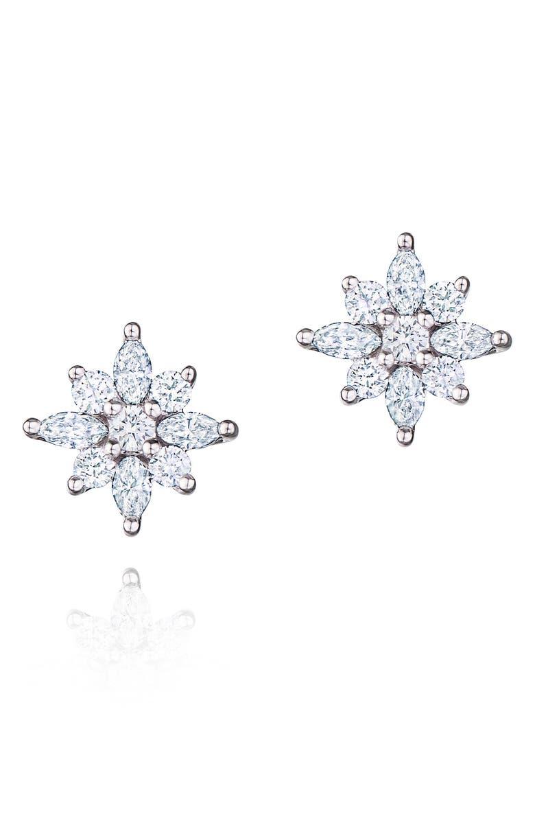KWIAT .49ct tw Diamond Star Earrings, Main, color, WHITE GOLD