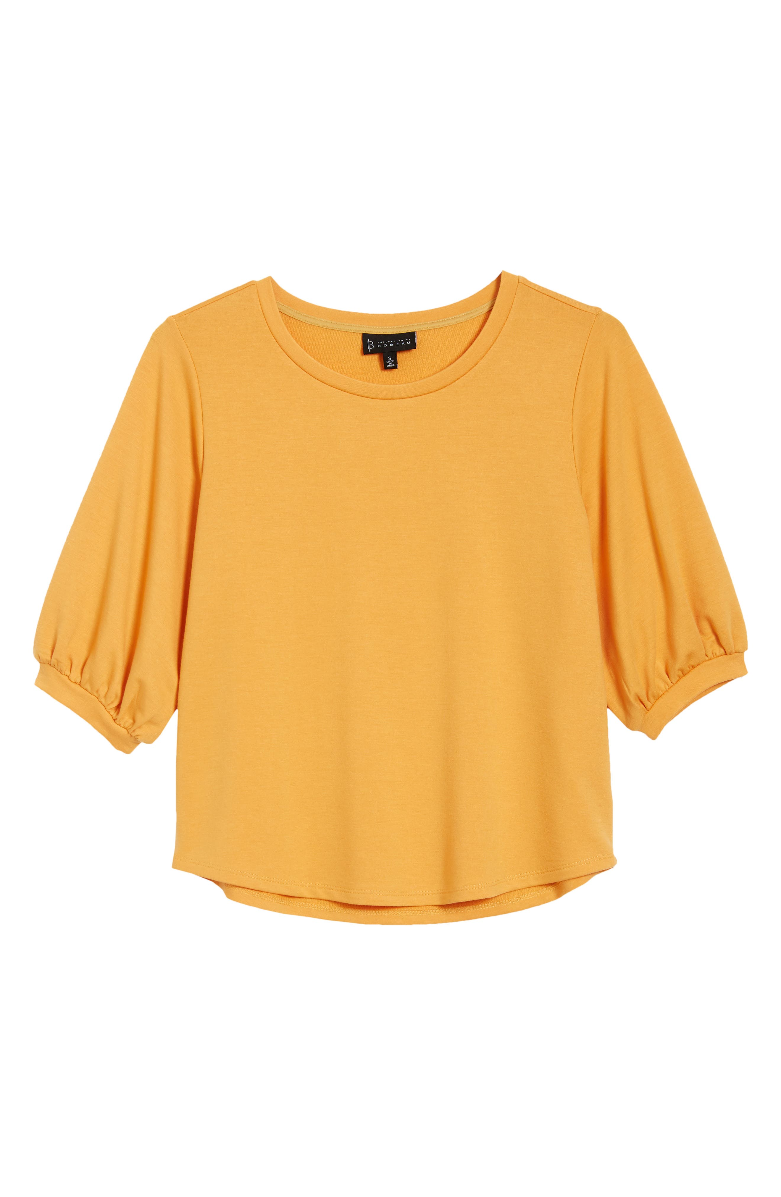 Audre Puff Sleeve French Terry Top