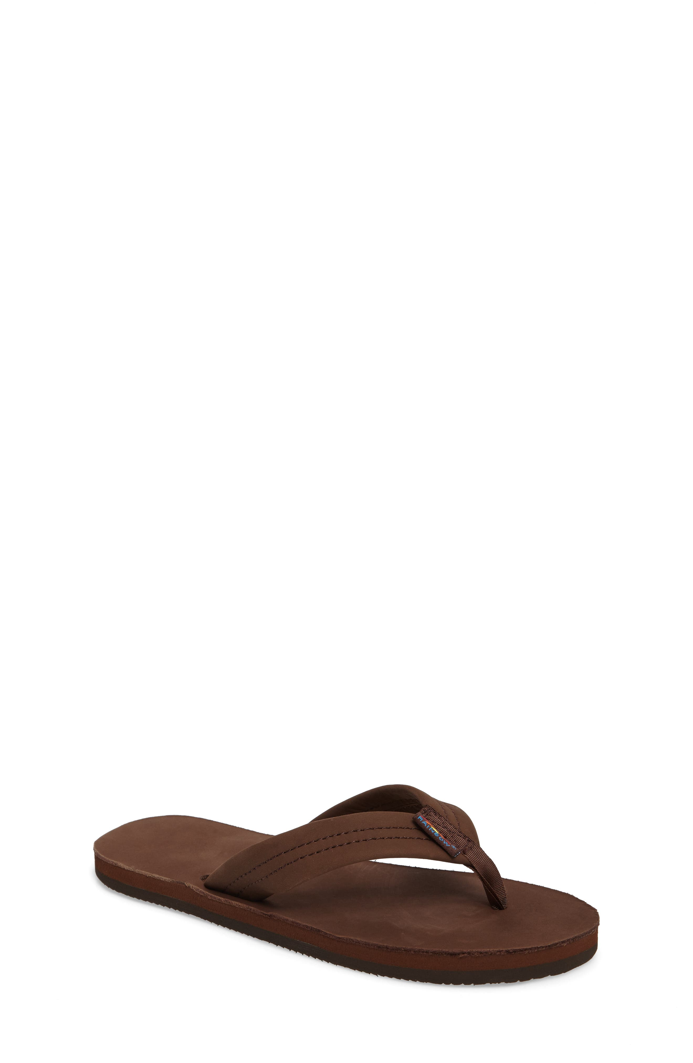 Rainbow Leather Sandal, Main, color, EXPRESSO