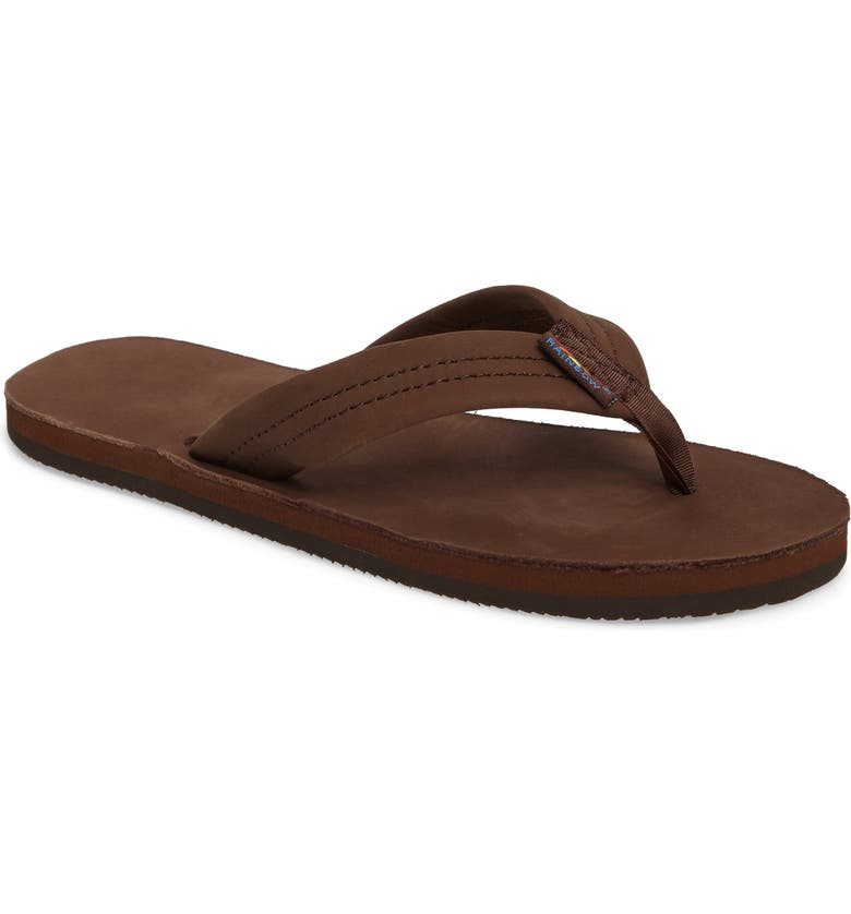 RAINBOW<SUP>®</SUP> Rainbow Leather Sandal, Main, color, EXPRESSO