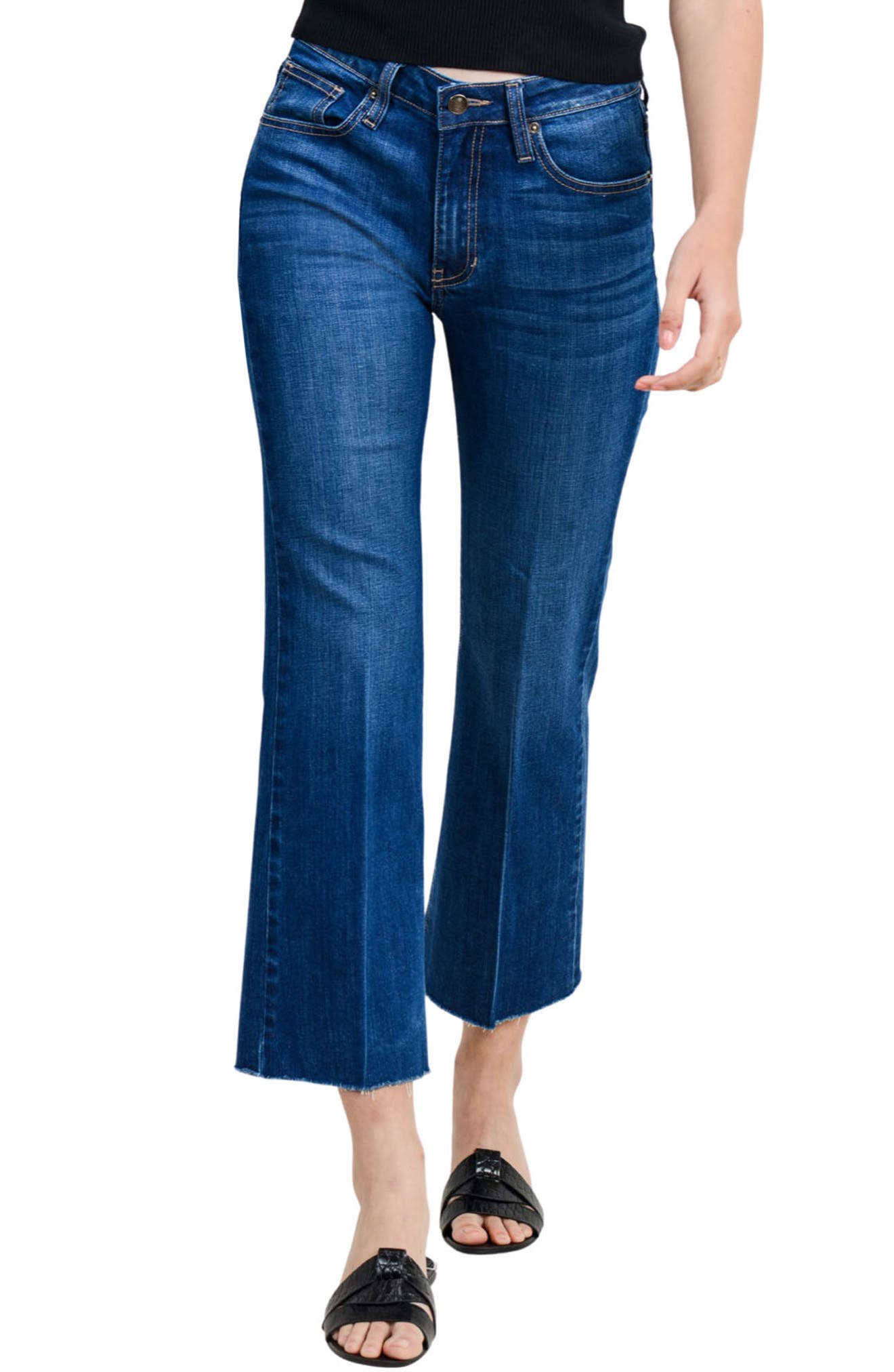 Sicily Raw Hem Ankle Flare Jeans